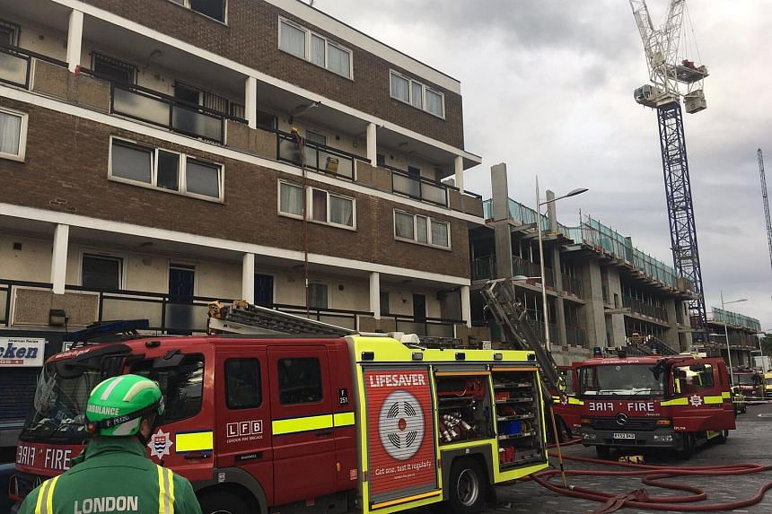 Emergency services responded to the fire at St Paul's Way and brought it under control in an hour.