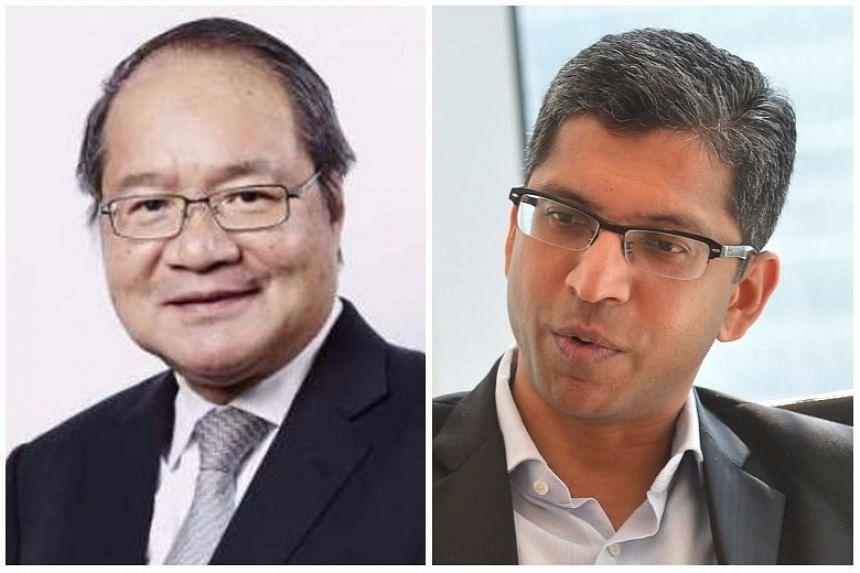 Attorney-General Lucien Wong (left) and Deputy Attorney-General Hri Kumar Nair.