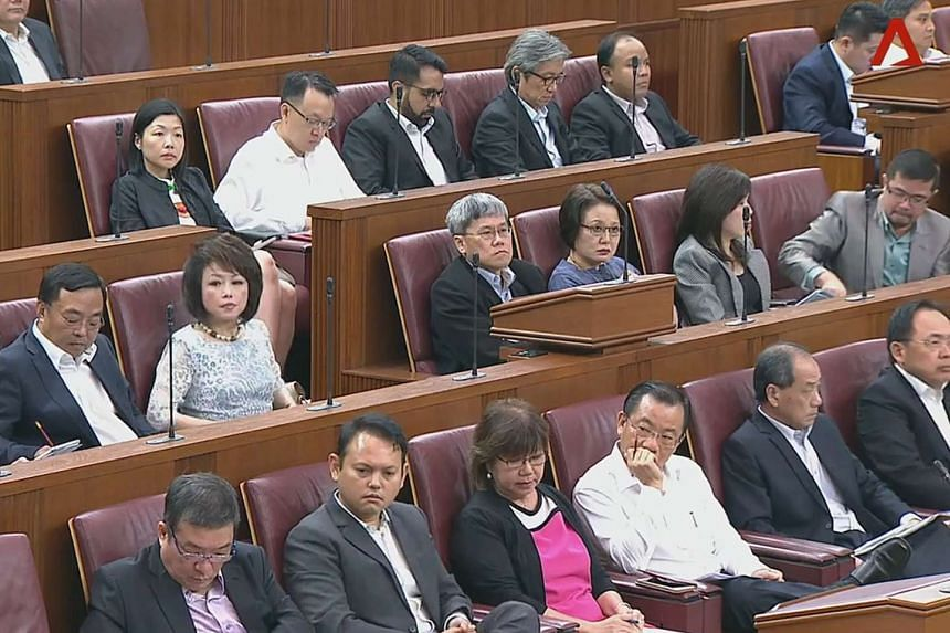 MPs attending the parliament session on July 3, 2017.