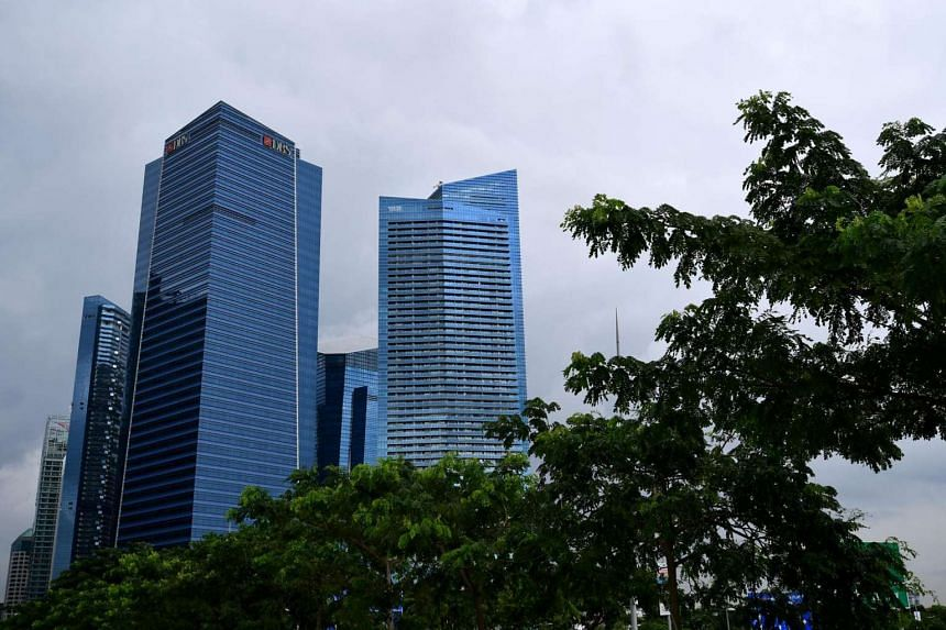 The Marina Bay Financial Centre in Singapore.