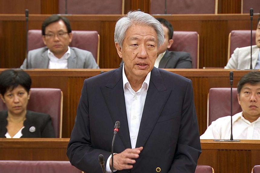 Teo Chee Hean speaking in parliament on July 4, 2017.