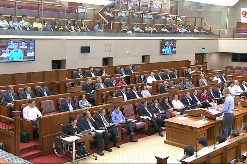 Parliament in session on July 3, 2017.