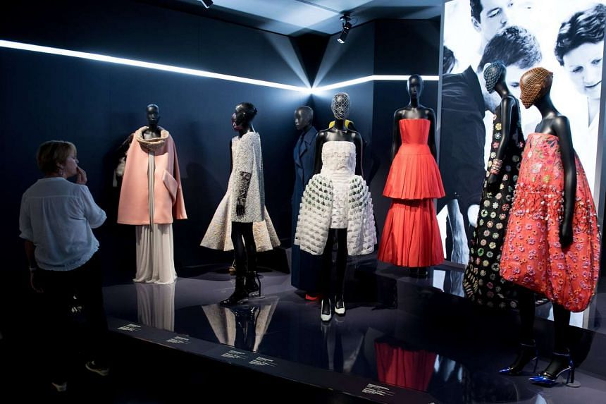 The Musee des Arts Decoratifs presenting an exhibition of the work of French designer Christian Dior during Paris Fashion Week, in Paris, France, on July 4, 2017.