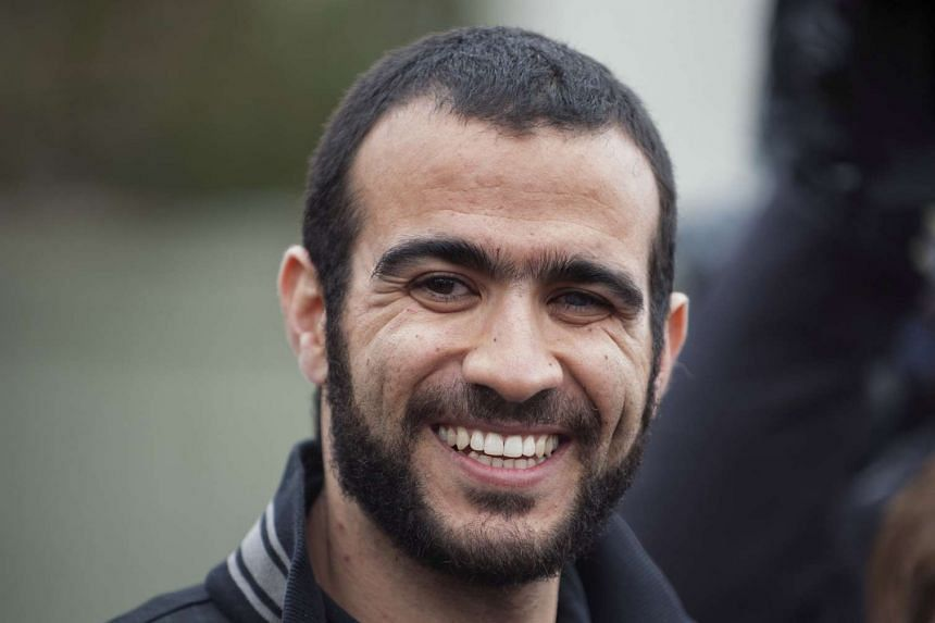 Omar Khadr at a news conference after being released on bail in Edmonton, Alberta, May 7, 2015.