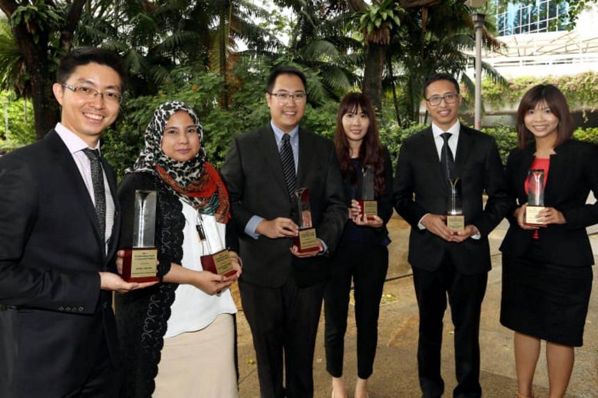 Six teachers will be awarded the Outstanding Youth in Education Award 2017 from the Minister of Education Ng Chee Meng at the NIE Teachers' Investiture Ceremony.