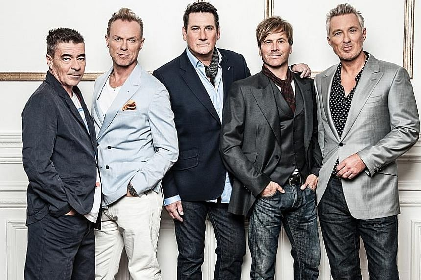 Spandau Ballet, formerly made up of (from left) John Keeble, Gary Kemp, Tony Hadley, Steve Norman and Martin Kemp, will move on without frontman Hadley.