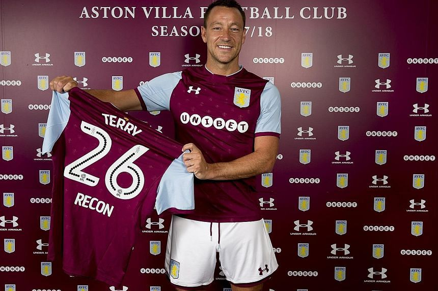 Aston Villa's new recruit John Terry will be seeking to lead his new club back to the Premier League from the Championship. The ex-Chelsea centre-back has designs on becoming a manager after he hangs up his boots, with the Chelsea role being the end