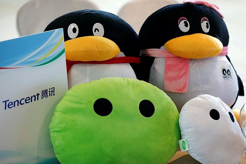 Some Tencent mascots. The Chinese investment company has filed for a Hong Kong initial public offering for its e-book unit.