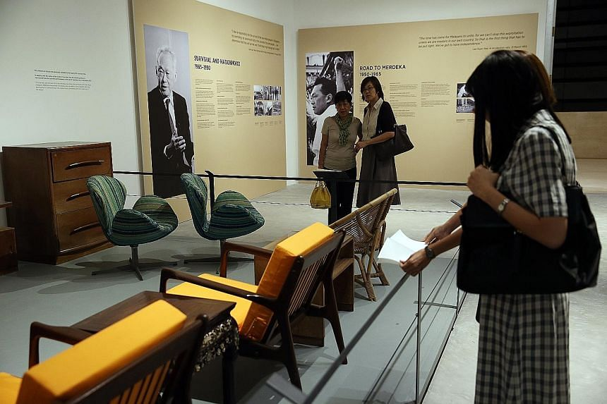 """The Deed of Gift involving the donation of artefacts for an exhibition on Singapore's founding fathers in 2015 came with """"highly unusual"""" clauses like the right to buy back the donated items at $1 as long as the house was not demolished, and second,"""