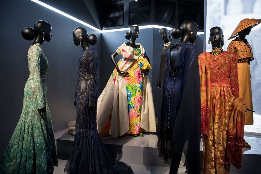 The Musee des Arts Decoratifs presenting an exhibition of the work of French designer Christian Dior during the Paris Fashion Week, in Paris, France, on July 4, 2017.
