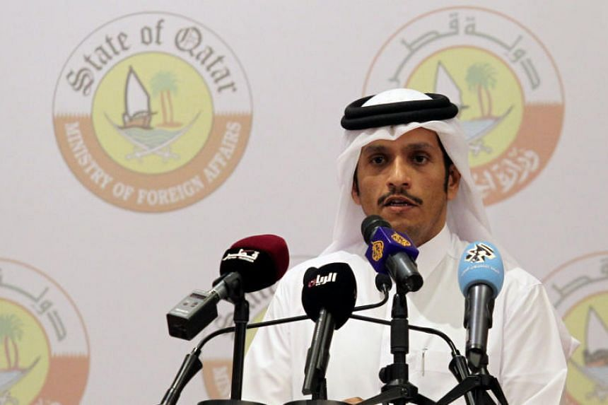 Qatar's Foreign Minister Sheikh Mohammed bin Abdulrahman al-Thani attends a joint news conference with German Foreign Minister Sigmar Gabriel (not pictured) in Doha.