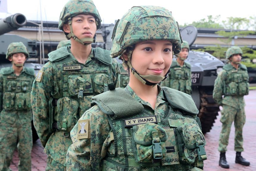 Hong Kong-based actress Apple Chan, 28, will play a female officer, to whom returning characters such as Sergeant Ong (Tosh Zhang), Lobang (Wang Weiliang), IP Man (Noah Yap) report. PHOTO: SHIN MIN DAILY NEWS