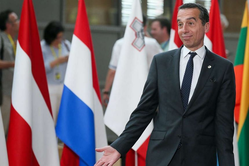 "Chancellor Christian Kern (above, in a file photo) said there was ""no need to employ temporary border controls""."