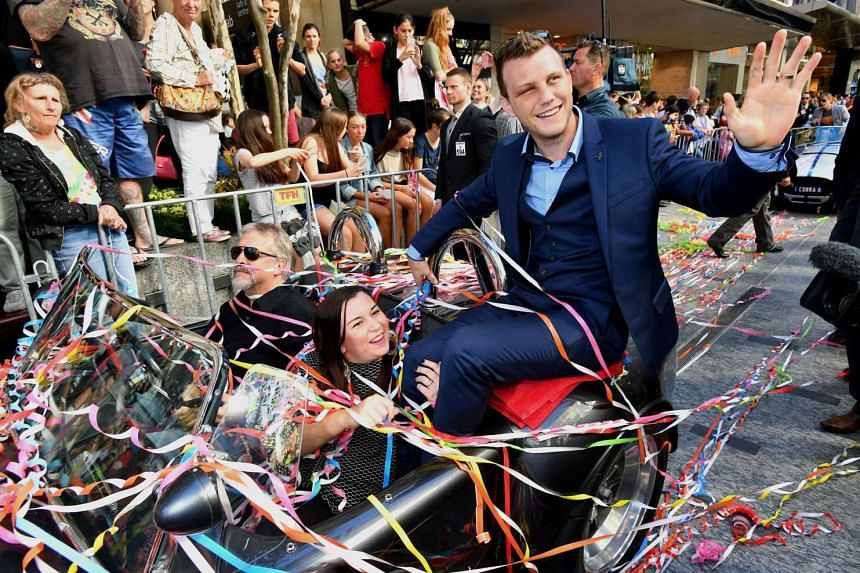 A proud Australian WBO welterweight champion Jeff Horn during a parade held in his honour in Brisbane on July 6, 2017 after the 29-year-old former schoolteacher beat eight-division world champion Manny Pacquiao of the Philippines last weekend.