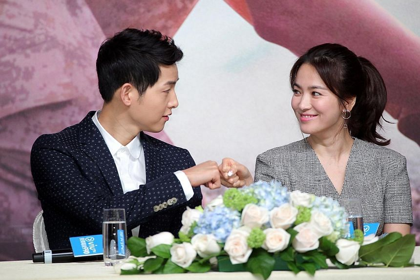 South Korean actors Song Joong Ki and Song Hye Kyo, seen here in Hong Kong to promote Descendants Of The Sun last year, played each other's love interest in the series.