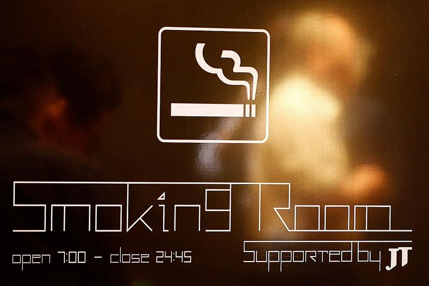 A smoking room supported by Japan Tobacco, which is one-third government-owned and paid the state US$700 million (S$968 million) in dividends in 2015. Tokyo risks being one of the unhealthiest cities to host the Olympics and Paralympics in years.