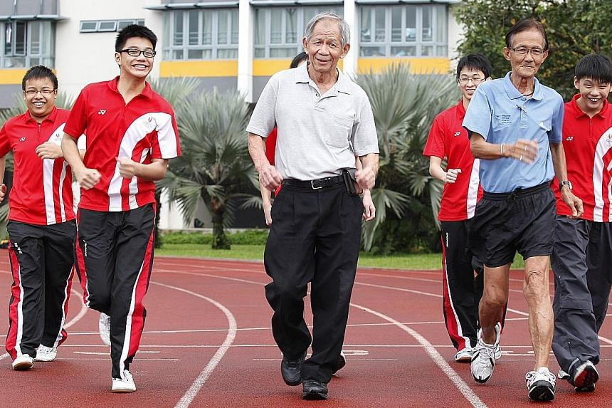 Singapore Athletics' chairman of race walking Leong Lee San (centre) will be part of a three-member board of inquiry.