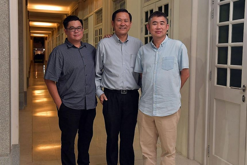 (From left) Mr Raymond Wang, vice-chairman of the diabetes taskforce and member of the Siglap Citizens' Consultative Committee, Mr Lim Teck Lee, Deputy Principal (Academic), ITE College East and Mr Tan Hang Kian, chairman of the Siglap Citizen's Cons