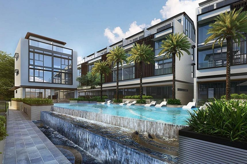An artist's impression of the Watercove development in Kampong Wak Hassan, Sembawang, which comprises 80 units.