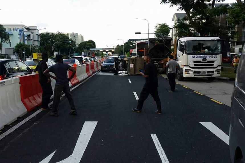 The LTA has warned motorists to expect congestion till Tampines Road.