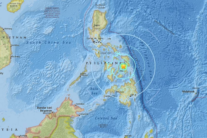 The 6.5-magnitude earthquake struck near the city of Tacloban in the Philippines on July 6, 2017.