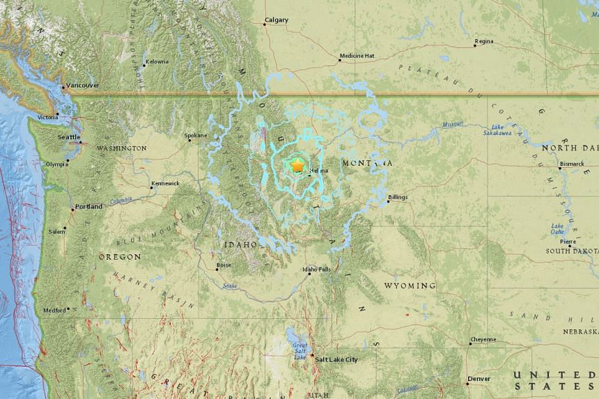 A 5.8-magnitude earthquake struck the US state of Montana early on July 6, 2017.
