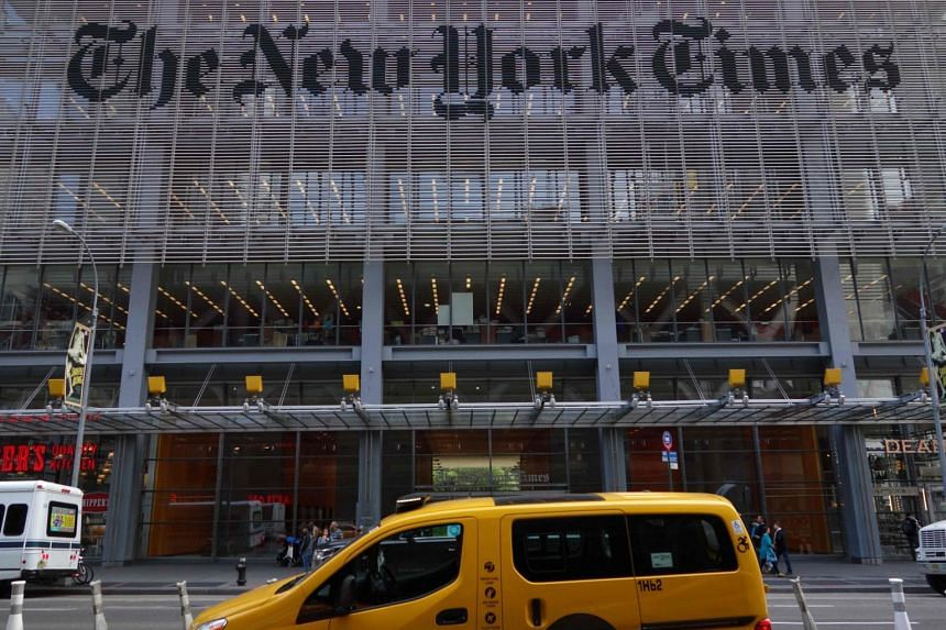The New York Times building at 620 Eighth Avenue in New York.