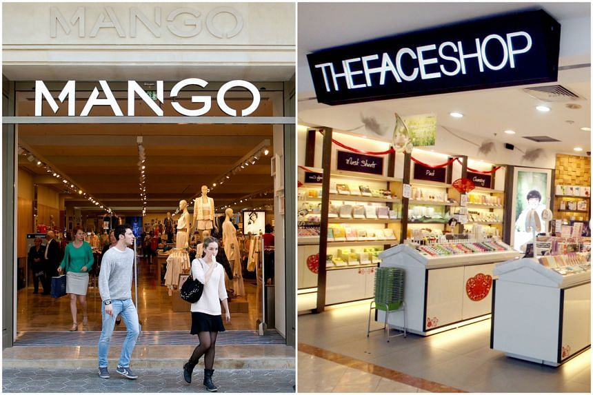 Spanish retail giant Mango and skincare firm TheFaceShop.