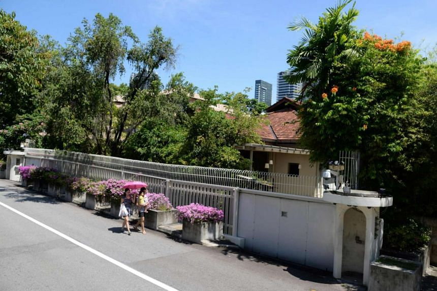 The house of Singapore's late prime minister Lee Kuan Yew at 38 Oxley Road in Singapore.