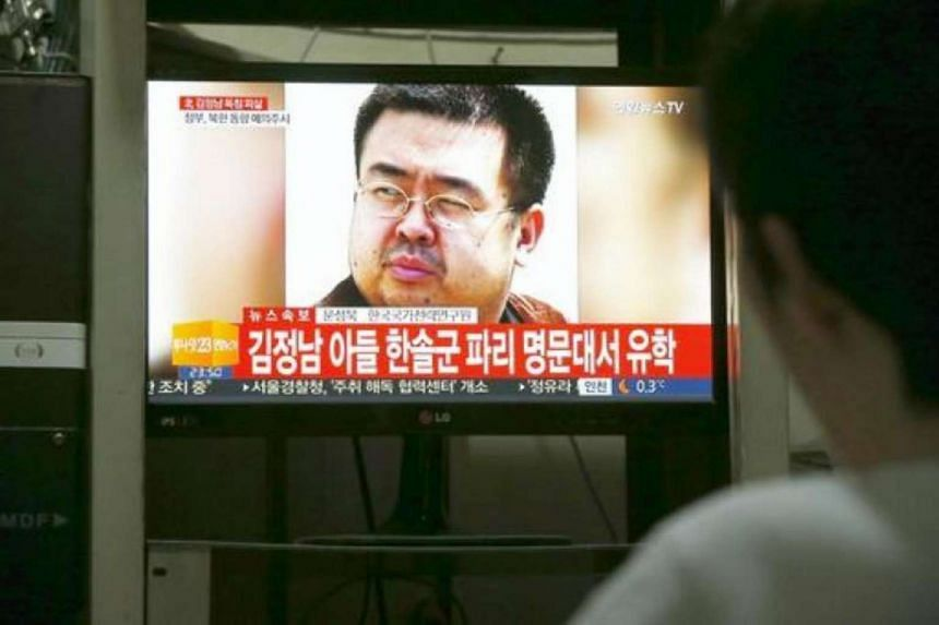 A South Korean man watches a TV screen showing breaking news about the alleged assassination of North Korean leader Kim Jong Nam.