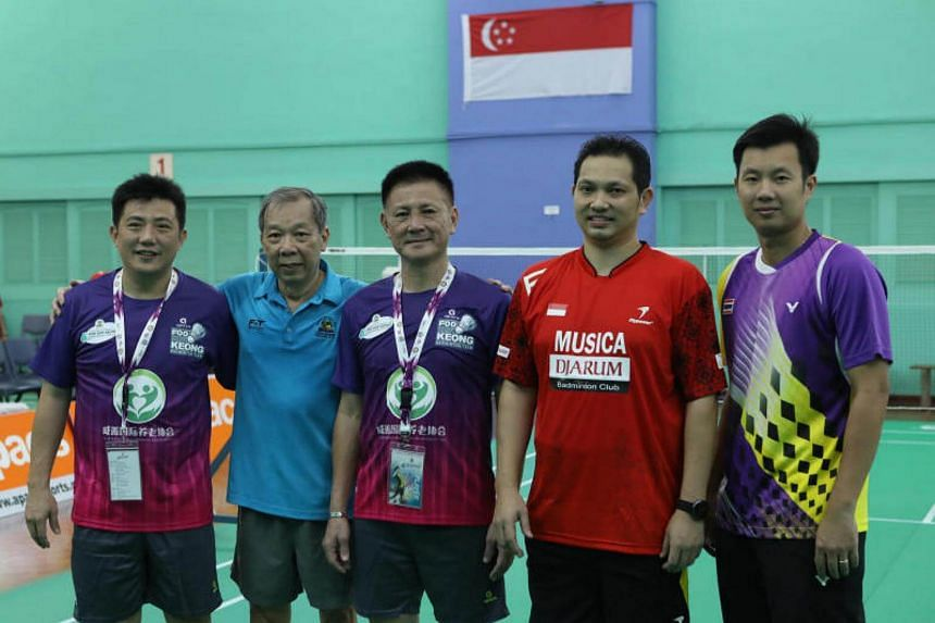 The Foo Kok Keong International Cup, held at the Singapore Swimming Club from July 7-9, features past regional badminton greats in action.
