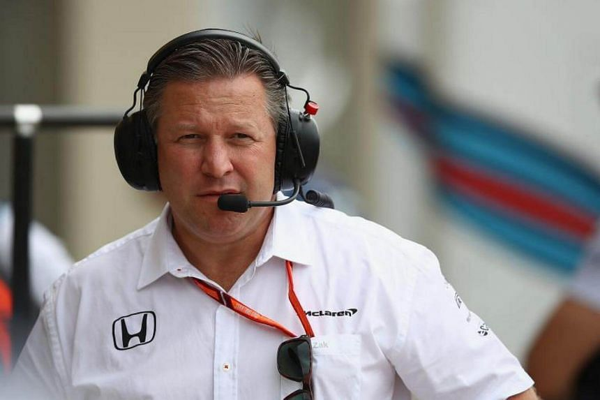 McLaren Executive Director Zak Brown in the Pitlane during practice for the Canadian Formula One Grand Prix at Circuit Gilles Villeneuve in Montreal, Canada, on June 9, 2017.