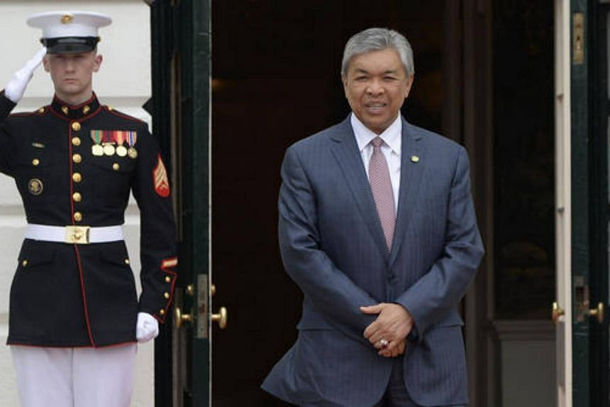 Dr. Ahmad Zahid Hamidi arrives for a working dinner on the South Lawn of the White House on March 31, 2016.