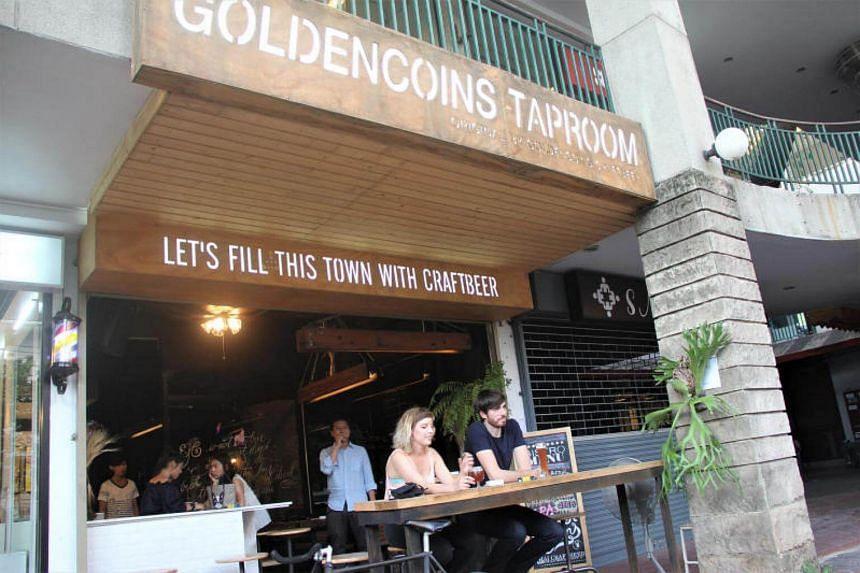 GoldenCoins Taproom bar in Ekkamai, Bangkok.