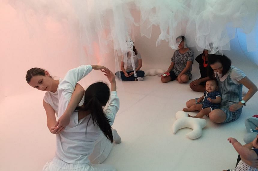 Baby Space, an interactive performance space designed specially for 0-16 month-old babies, at The Artground, a newly-launched children's arts centre in Goodman Arts Centre.