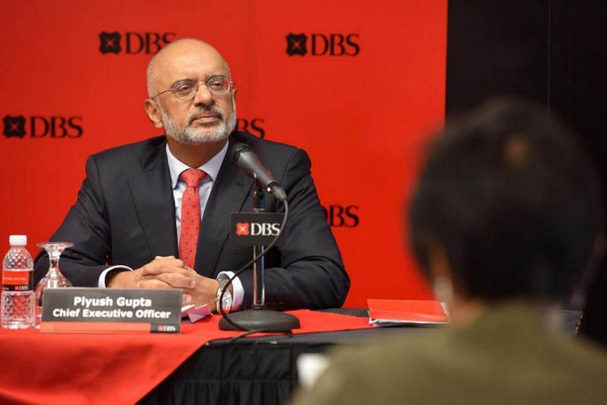 Mr Piyush Gupta, chief executive of DBS, at the release of the bank's first-quarter financial results on May 2, 2017.