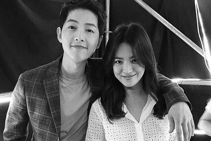 Actors Song Joong Ki and Song Hye Kyo in a photo she posted on Instagram in June last year.
