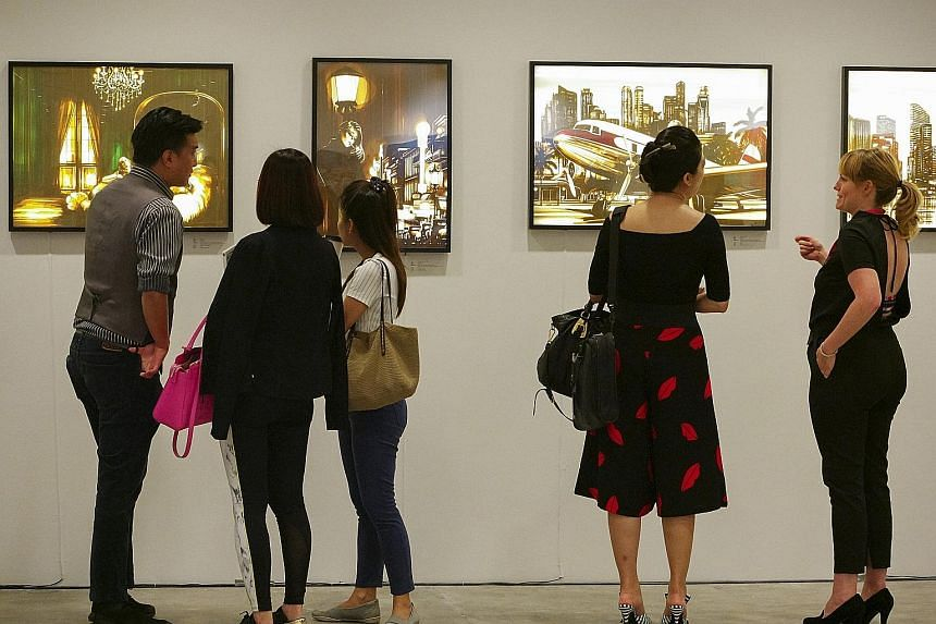 Nationwide events such as the Affordable Art Fair played a part in lifting the mood in the retail sector, says Singapore Retailers Association president R. Dhinakaran.