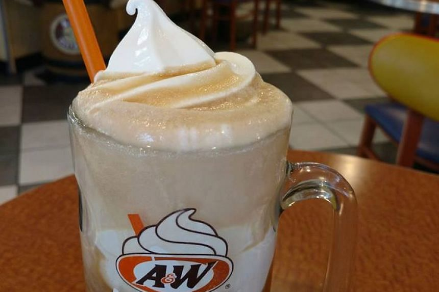 One of the A&W's signature items is the root beer float topped with vanilla soft serve.