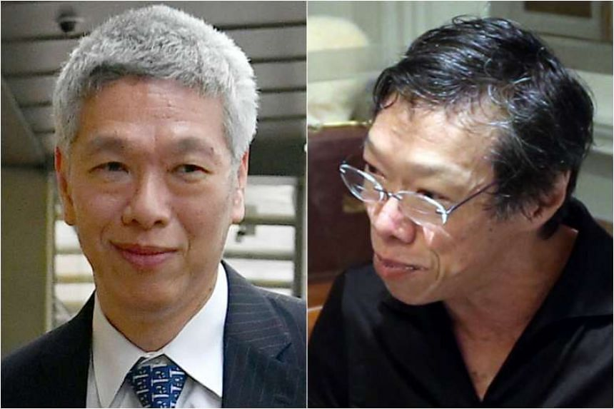 Lee Hsien Yang (left) and Lee Wei Ling.