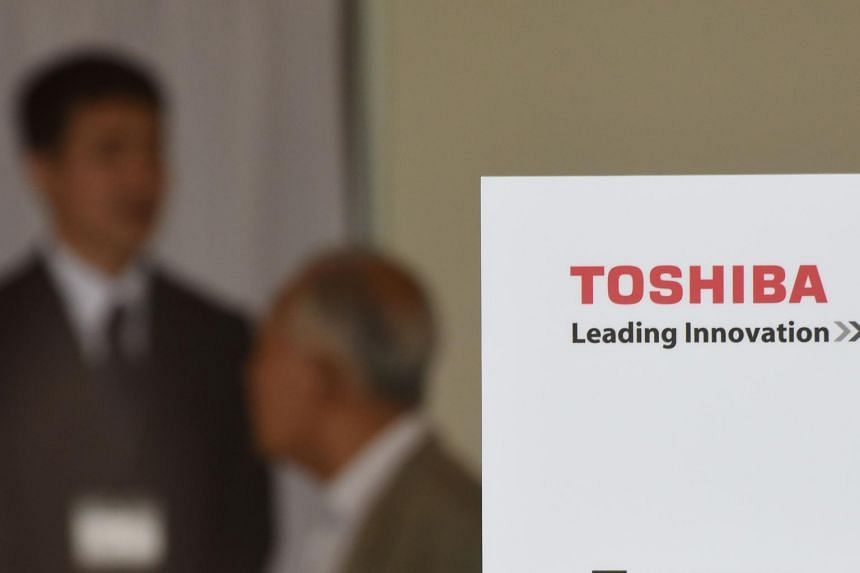 A shareholder of Toshiba arriving at a shareholders' meeting in Chiba, Chiba prefecture, on June 28, 2017.