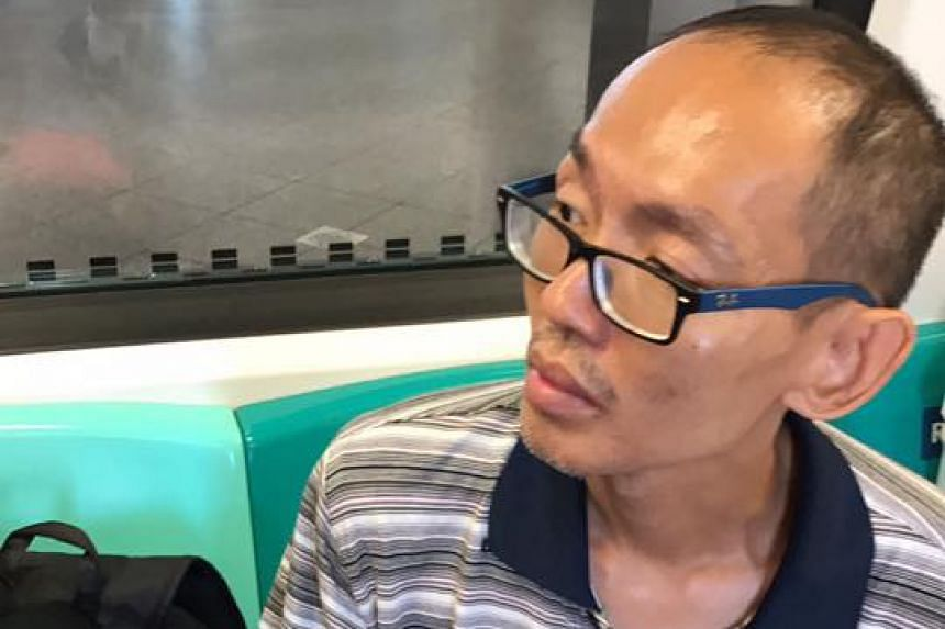 Sim Teck Chye is accused of committing the offence on board an MRT train from Tuas Link station to Pasir Ris station on Sunday, July 2 2017.