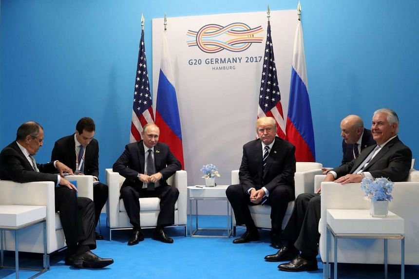 Putin, Lavrov, Trump and Tillerson meet on the sidelines of the G20 summit.