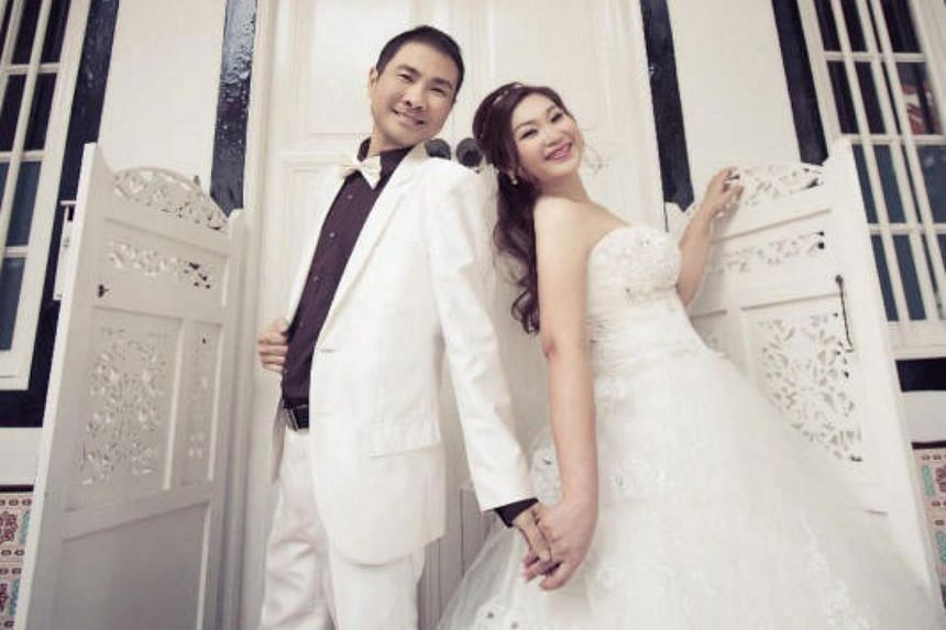 Newly-weds Mr Tay Boon Wah, 42, who works in the IT sector and Ms June Chan, 41, an administrative manager officiated their union earlier in January this year after meeting on the online dating application, esync, last year in Feb.