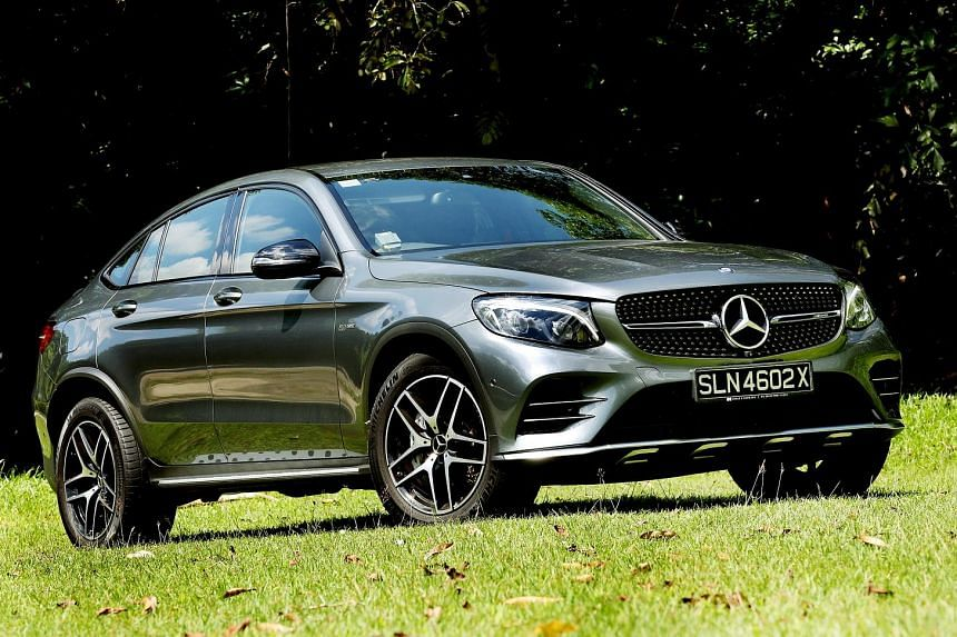 The Mercedes- AMG GLC45 Coupe feels compact at the helm, which enhances its usability in the city.