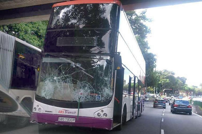 """The service 72 bus had been travelling along Yio Chu Kang Road at around 10am yesterday when the bus captain """"suddenly felt dizzy for a few seconds"""". He then recovered and stopped the bus. No passenger was hurt."""