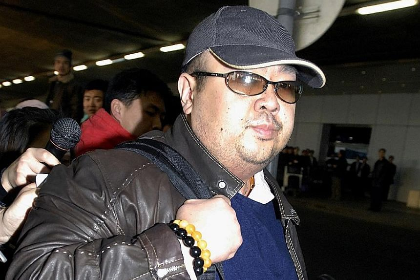 A man believed to be Mr Kim Jong Nam arriving at a Beijing airport in 2007. He died in February when he came into contact with liquid VX at an airport in Malaysia.