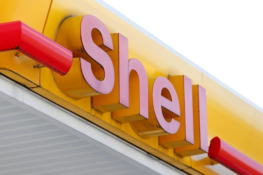 The logo of a Shell gas station is seen in Ulm, Germany, on April 6, 2017.