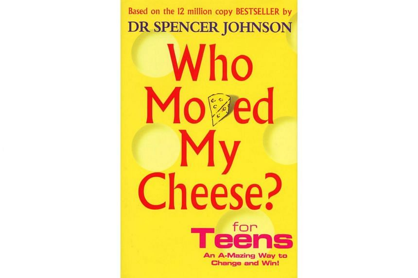 The book cover of Who Moved My Cheese? For Teens, by Dr Spencer Johnson.