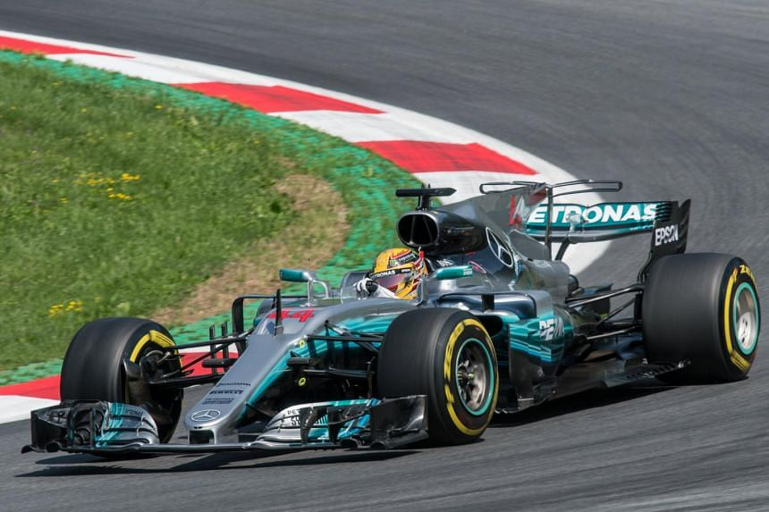 British Formula One driver Lewis Hamilton of Mercedes AMG GP in action during the first practice session of the Formula One Grand Prix of Austria at the Red Bull Ring circuit in Spielberg, Austria, on July 7, 2017.